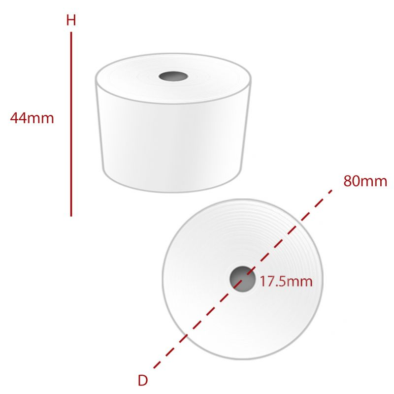 Thermal 44 x 80 mm Roll (TH056) - Box of 20