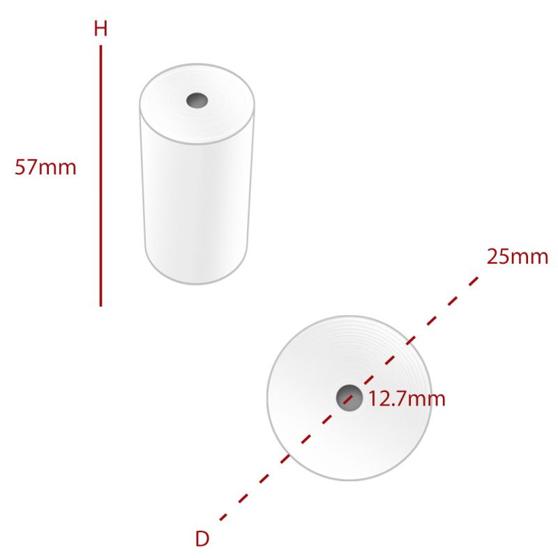 Thermal 57 x 25mm Roll (TH004) - Box of 20