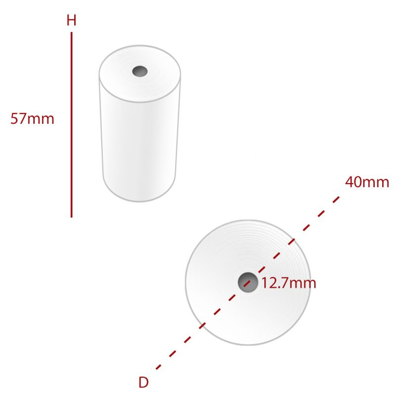 Thermal 57 x 40 mm Roll (TH069) - Box of 20