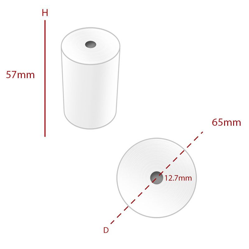 Thermal 57 x 65 mm Roll (TH408) - Box of 20 - Economy Range