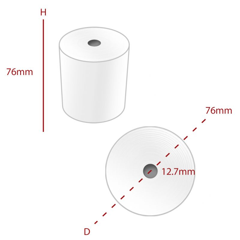 76 x 76 mm 2 PLY Roll (MPLY015) - Box of 20