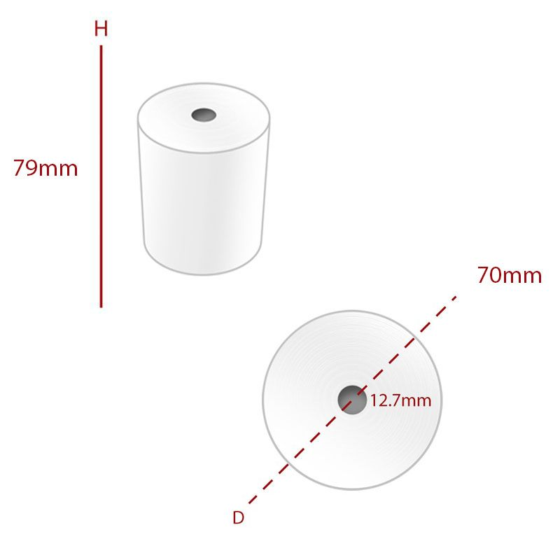 Thermal 79 x 70 mm Roll (TH432) - Box of 20 - Economy Range