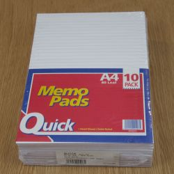 A4 Lined Memo Pads - STA203